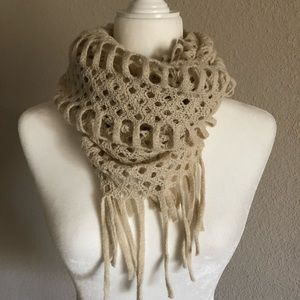Infinity Scarf in cream color